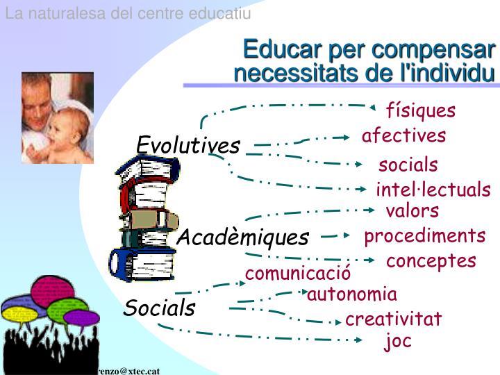 Educar per compensar necessitats de l individu