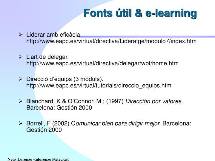 Fonts útil & e-learning