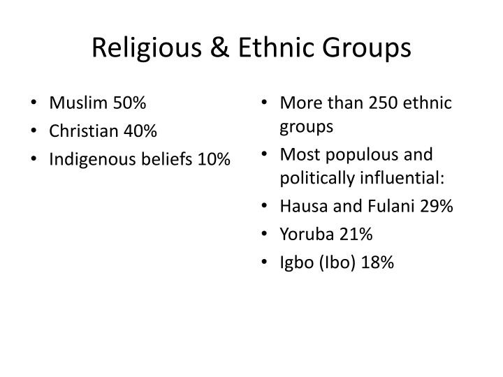 religious and ethnic groups 9 essay