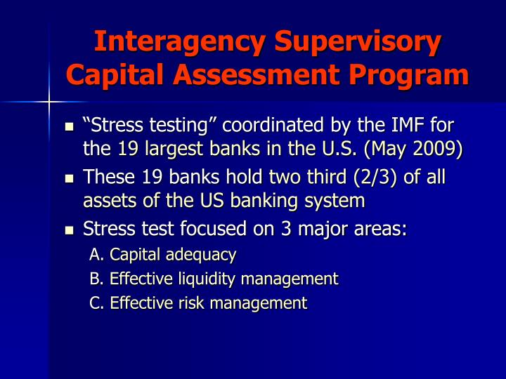 Interagency Supervisory Capital Assessment Program