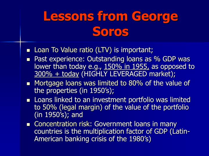 Lessons from George Soros