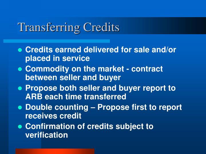 Transferring Credits