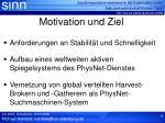 motivation und ziel