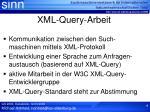 xml query arbeit