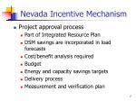 nevada incentive mechanism1