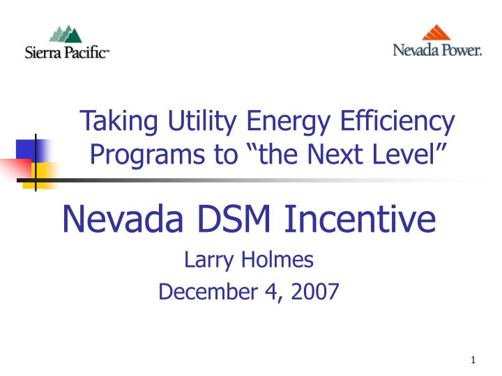 taking utility energy efficiency programs to the next level n.