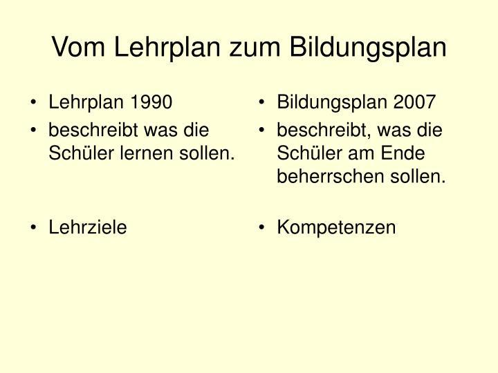 Lehrplan 1990