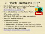 2 health professions hp