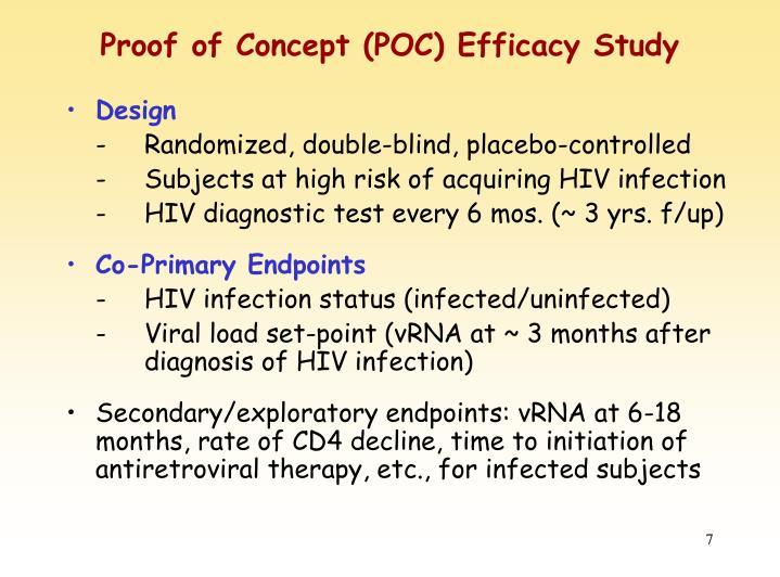 Proof of Concept (POC) Efficacy Study