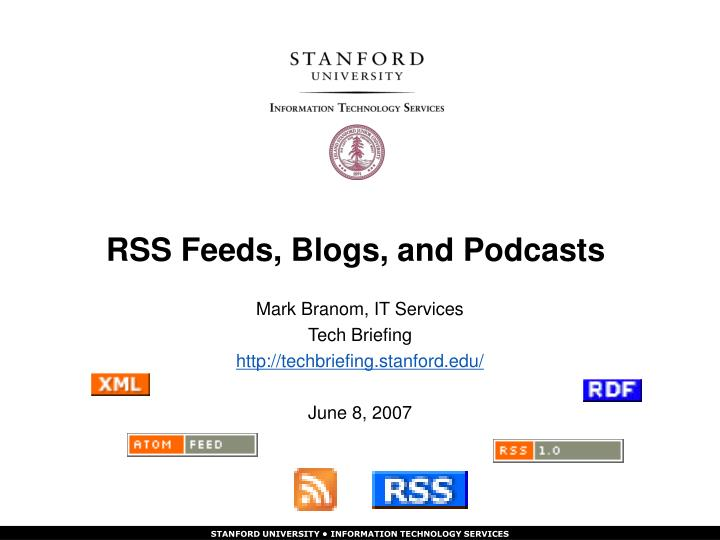 rss feeds blogs and podcasts