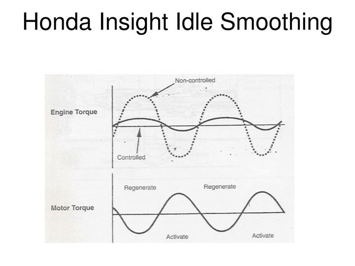 Honda insight idle smoothing