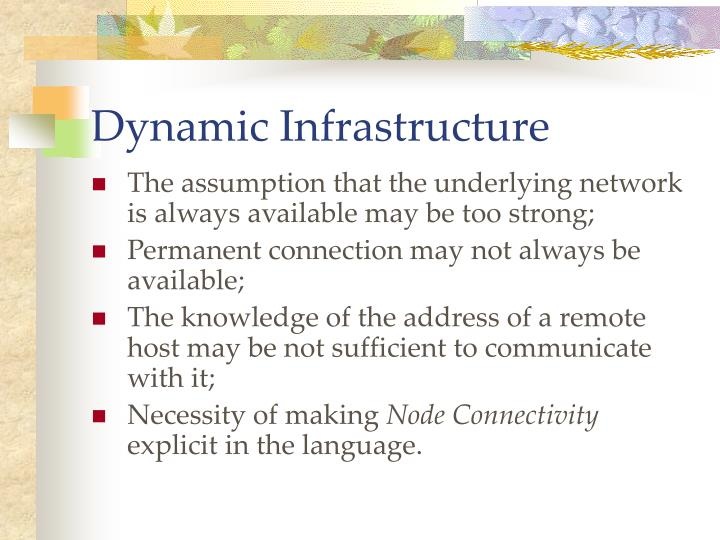Dynamic infrastructure1