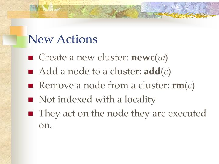 New Actions