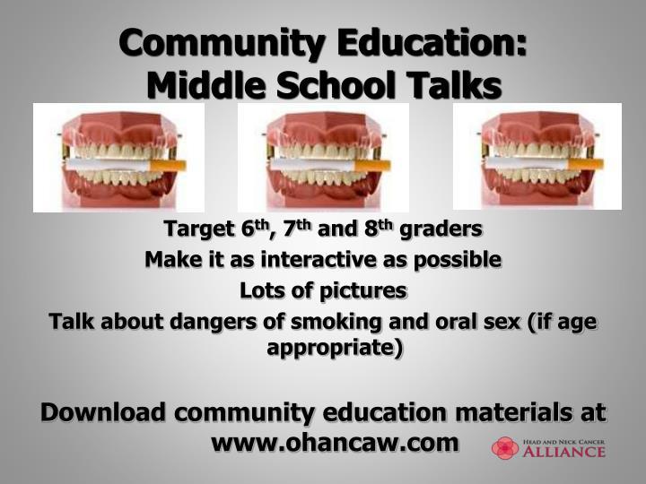 Community Education: