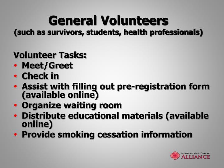 General Volunteers