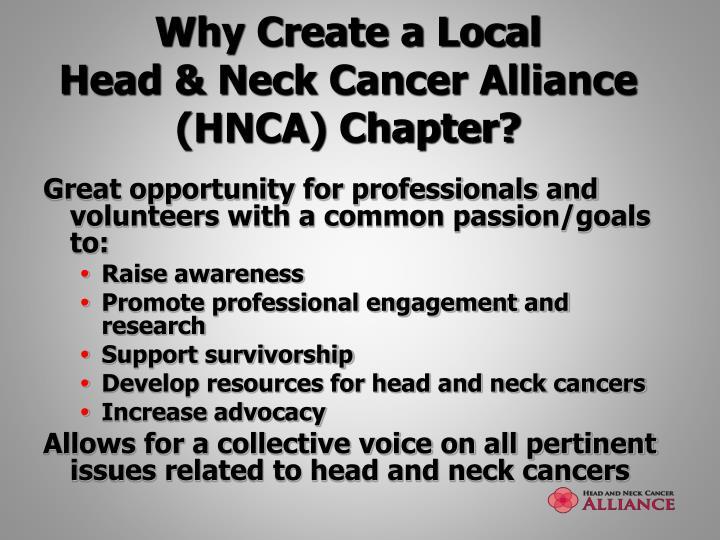 Why Create a Local