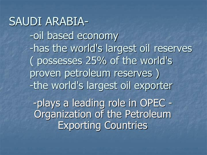 the role and importance of the opec in controlling the oil industry The creation of opec was a historical vindication in response to the control exerted by multinational companies on the oil business at the expense of producing countries.
