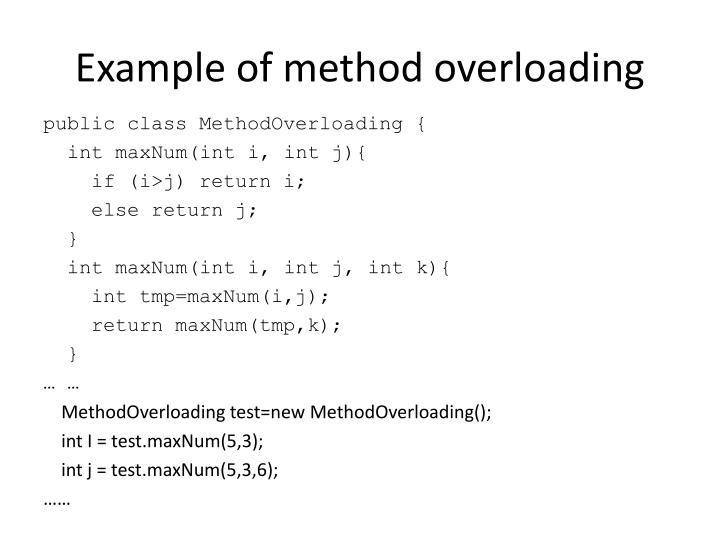 Example of method overloading