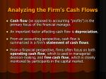 analyzing the firm s cash flows