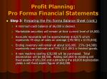 profit planning pro forma financial statements9
