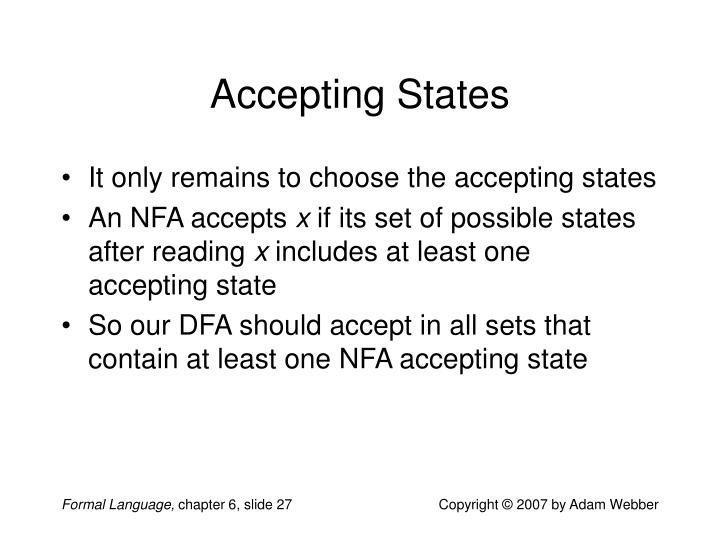 Accepting States