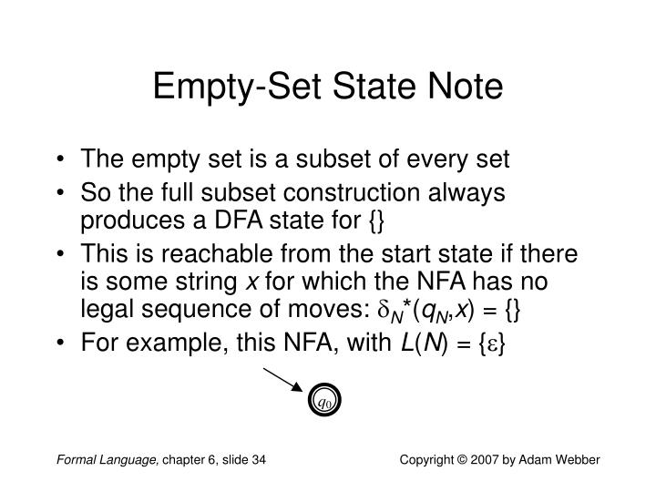 Empty-Set State Note