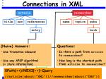 connections in xml
