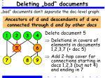 deleting bad documents