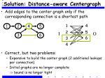 solution distance aware centergraph