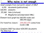 why naive is not enough