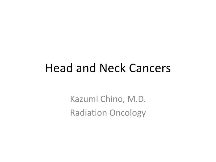 head and neck cancers n.