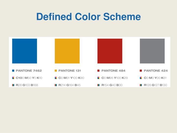 Defined Color Scheme