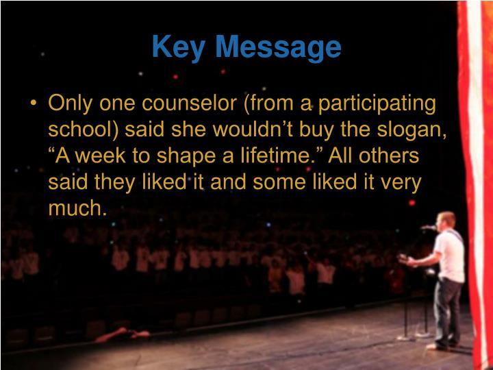 Key Message