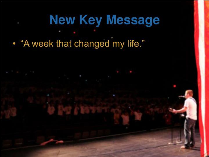 New Key Message