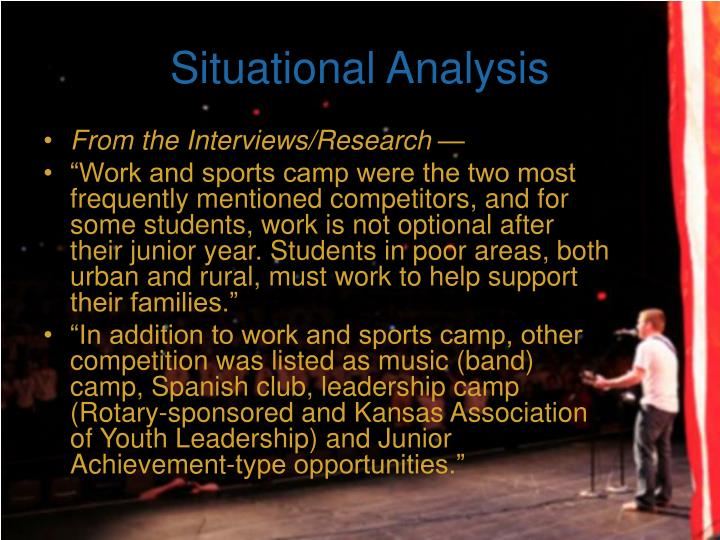 Situational Analysis
