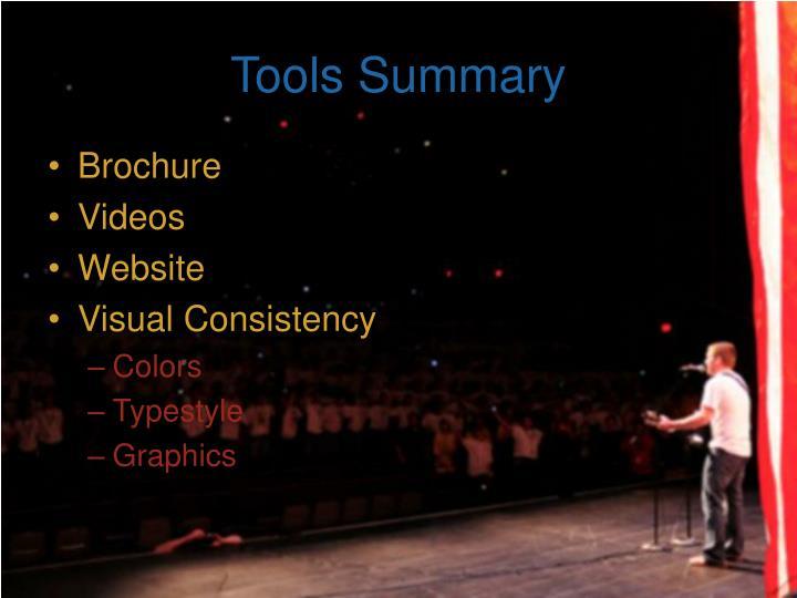 Tools Summary