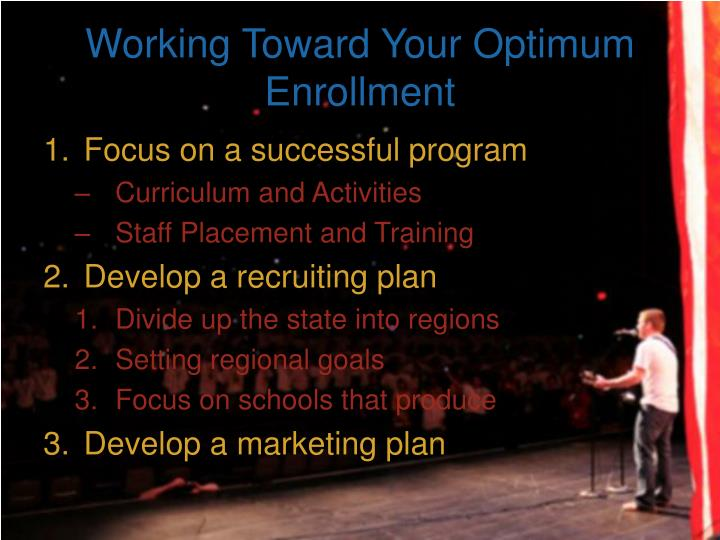 Working Toward Your Optimum Enrollment