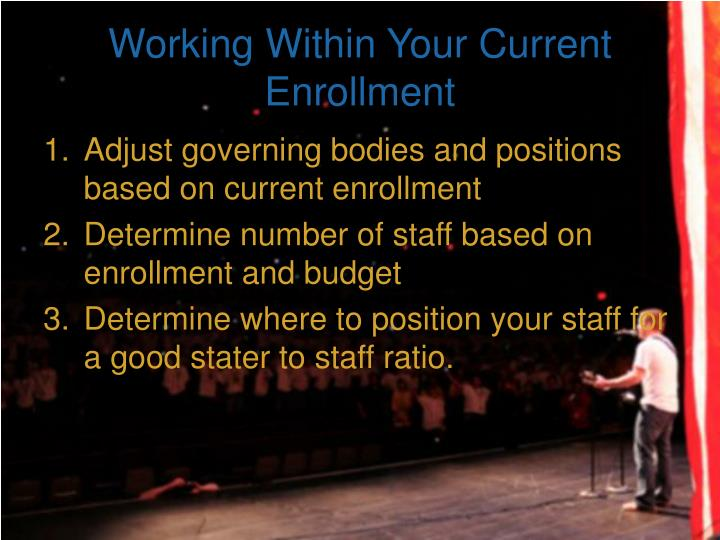 Working Within Your Current Enrollment