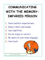 communicating with the memory imparied person