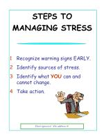 steps to managing stress