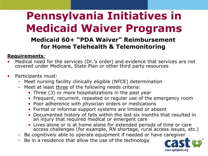 Pennsylvania Initiatives in Medicaid Waiver Programs