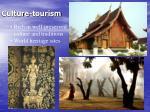 culture tourism