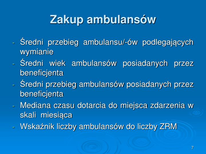 Zakup ambulansów
