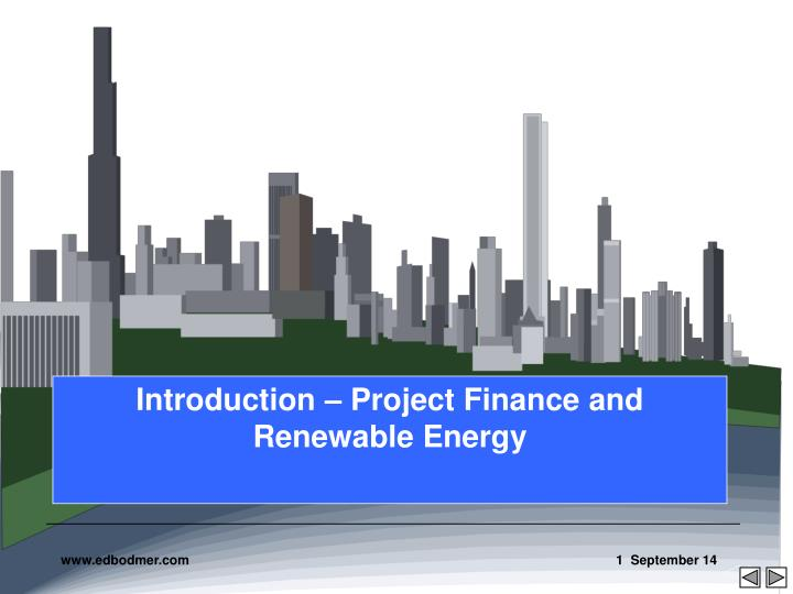 introduction project finance and renewable energy n.