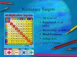 numeracy targets