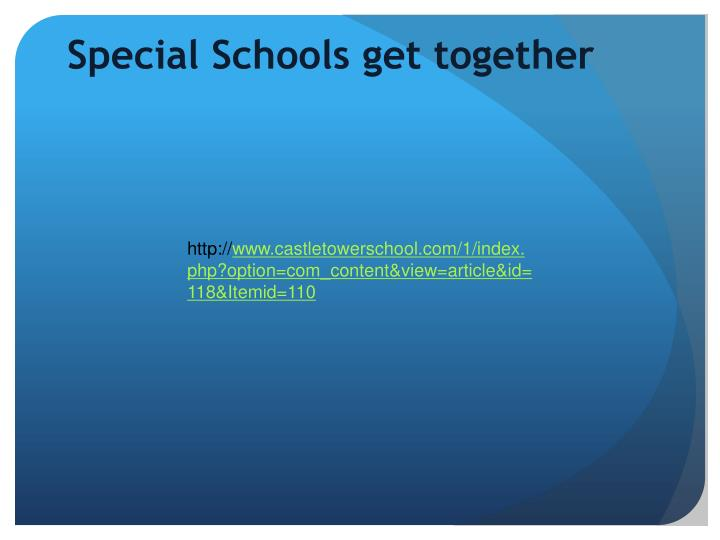 Special Schools get together