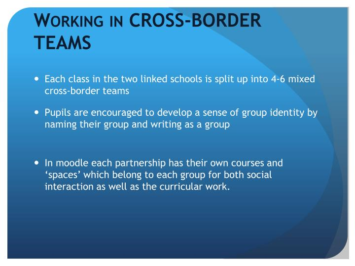 Working in CROSS-BORDER TEAMS