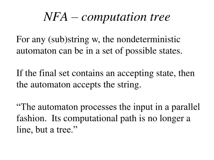 NFA – computation tree