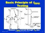 basic principle of i ddq testing