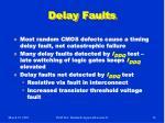 delay faults